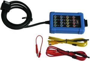 Le Boîtier de test CAN (CAN TEST BOX – CTB) se connecte facilement aux 16 broches de la prise diagnostic de tout véhicule modèrne.
