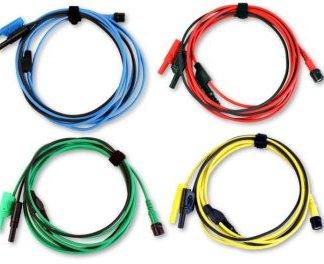 Jeu de 4 cordons de test colorés de haute qualité - 3 m de longueur