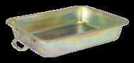 Bac métallique de vidange