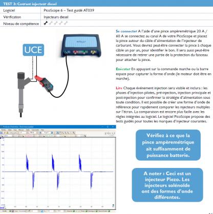 Réaliser un contrôle des injecteurs Piezo d'un moteur diesel. Test guidé AT039