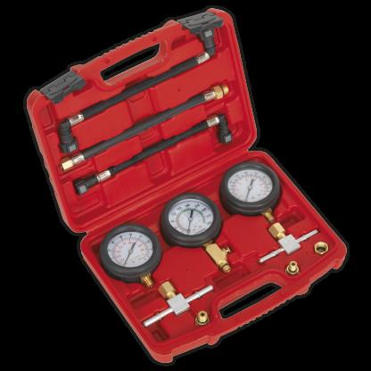 Jeu de manomètres pour moto - compression et pression carburant - MS100
